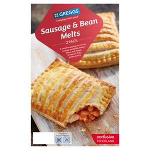 Greggs 2 Sausage & Bean Melts 308g for £1 @ Iceland