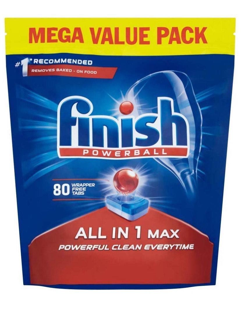 Finish Dishwasher Tablets All in 1 Max Original, 80 Tablets £8.49 (Prime) / £12.98 (non Prime) at Amazon