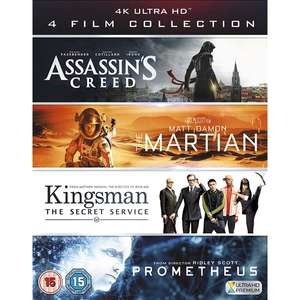 4KUHD Film Collection (Assassin's Creed, The Martian, Kingsman & Prometheus) Blu-ray for £16.10 With code Delivered @ 365games