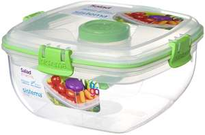 Sistema Klip It Salad To Go 1.1 Litre Container now £3.74 (Prime) + £4.49 (non Prime) at Amazon