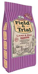 Skinner's Field & Trial Complete Dry Adult Dog Food Lamb and Rice, 15 kg £16.99 prime / £21.48 non prime @ Amazon