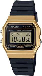 Casio Unisex Watch with Date Display and LED Light Water Resistance & Alarm F-91WM-9AEF now £11.49 (Prime) + £4.49 (non Prime) at Amazon