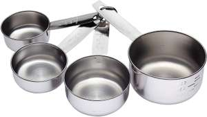 KitchenCraft Stainless Steel Measuring Cups - 4-Piece Set for £2.97 (Prime) / £7.46 (NonPrime) delivered @ Amazon