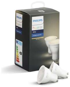 Philips Hue White GU10 Bulb Twin Pack £20.99 Collected @ Argos