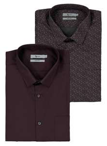 2 Easy Iron Slim Fit Shirts Sizes 14 / 14.5 / 18 / 18.5 / 19, Now £8.50 ( other colours / sizes ) @ Argos + free Click and Collect