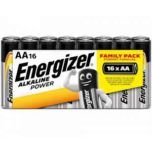 Energizer Alkaline Power AA or AAA Batteries Pack of 16 for £5.99 with free click and collect @ ryman.co.uk