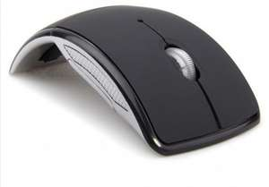 Foldable Folding 2.4GHz Wireless Optical Mouse - Black £3.03 Delivered @ DX Deal Extreme