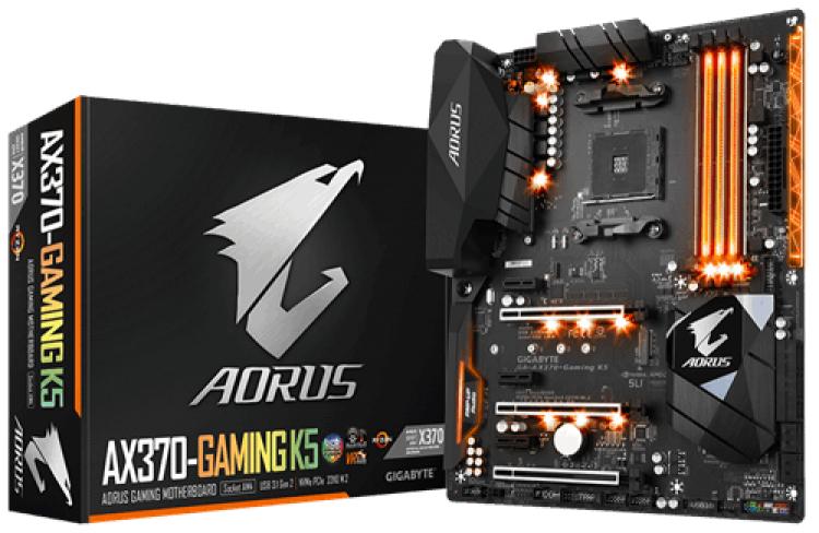 GIGABYTE GA-AX370-Gaming K5 AMD X370 (Socket AM4) DDR4 ATX Motherboard £110.45 Delivered @ Overclockers UK