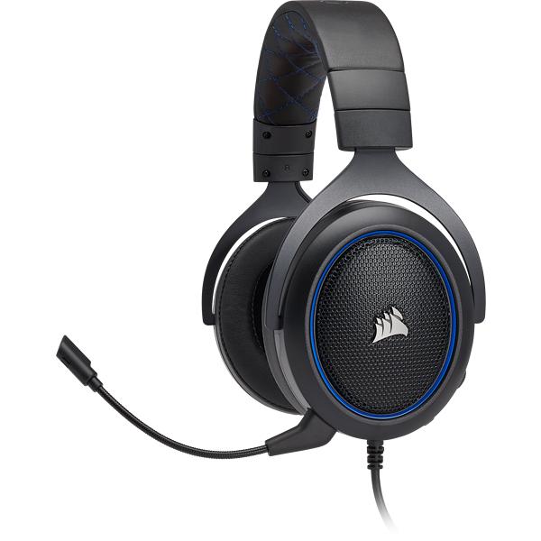 Corsair HS50 Stereo Gaming Headset — Blue (Refurbished) £34.99 at Corsair Shop