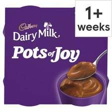 Cadbury dairy milk/caramel/Turkish delight pots of joy chocolate dessert 4 pack 260g £1.25 @ Tesco (wispa 4 X 45g £1)