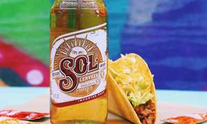 £2 for a Sol Beer (or refillable soft drink) and any Taco @ Taco Bells on Tuesdays