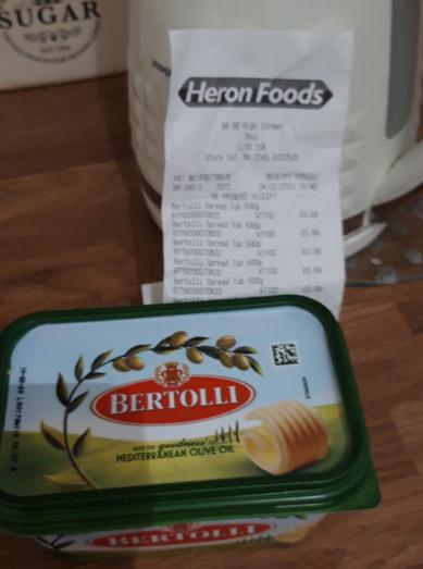 Bertolli 500g 69p at Heron Foods Rhyl