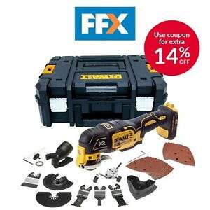 DeWalt DCS355NT 18v XR Li-ion Brushless Multi Tool Bare Unit, TStak, Accessories - £112.94 With Code @ FFX Ebay / Free delivery