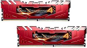 G.SKILL Ripjaws 4 Series F4-2800C16D-8GRR DDR4 2800 MHz 8 GB Memory Kit - Red for £23.28 delivered @ Amazon