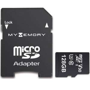 MyMemory 128GB V30 Premium Micro SDXC TF Memory Card A1 UHS-1 U3 100/70MB/s R/W(Lifetime Warranty) for £11.98 Delivered @ mymemory-uk / eBay
