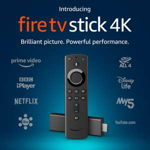 Amazon 4K HDR Fire TV Stick for £34.95/Fire TV Stick with Alexa Voice Remote for £24.95 Free C&C @ Argos