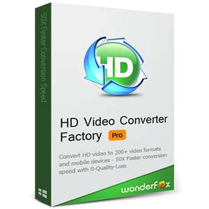 Wonderfox HD Video Converter Factory Pro 18.6 (suite) - first sighting now @ Bitsdujour