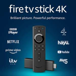 Amazon Fire TV Stick 4K Ultra HD with Alexa Voice Remote £34.99 // Fire TV Stick with Alexa Voice Remote £24.99 Free delivery / C&C @ Currys