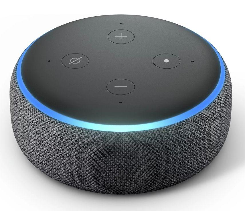 Amazon Echo Dot 3rd Gen Voice Assistant Charcoal Fabric £29.99 @ Screwfix (Free C+C)