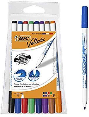 BIC Velleda 1721 whiteboard pens assorted colours pouch of 8 £3 @ Amazon prime (£4.49 p&p non prime)