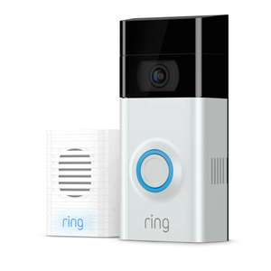 Ring Full HD 1080p Video Doorbell 2 and Chime Bundle - White / Black £122.55 at Argos/ebay with code