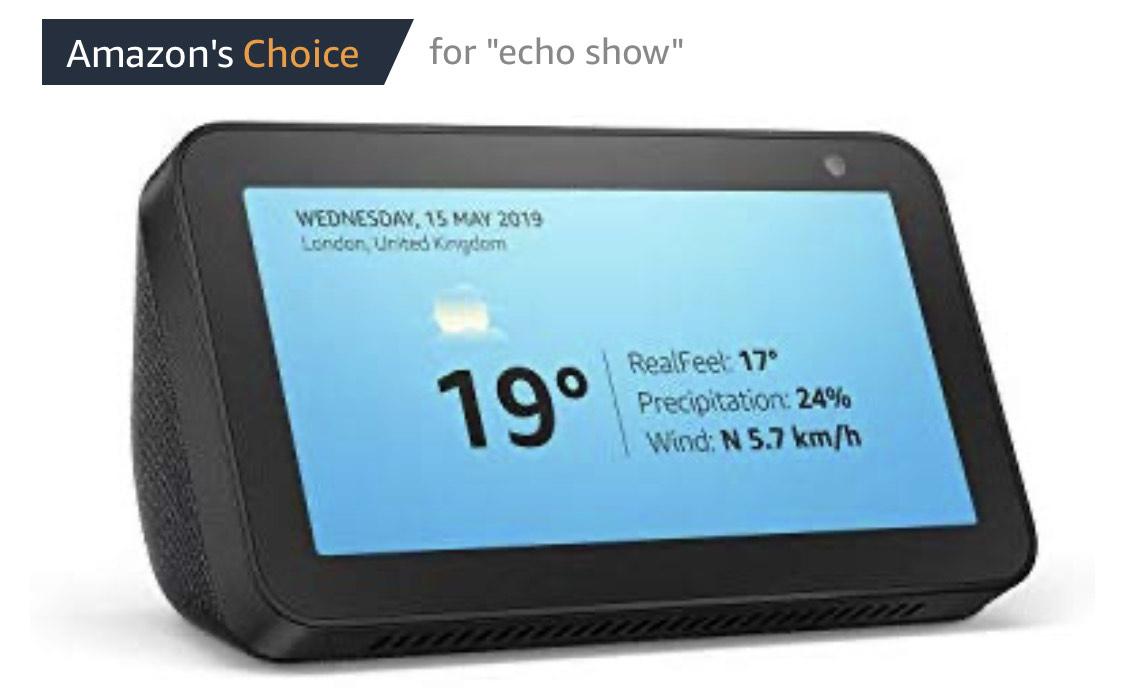 Amazon Echo Show 5 £59.99 - Amazon