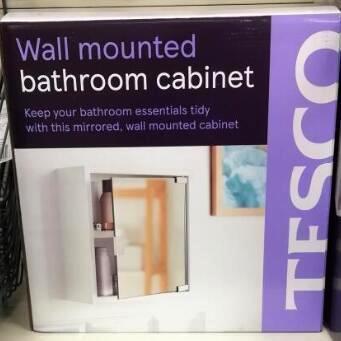 Wall Mounted bathroom cabinet £4 instore Tesco Burnley