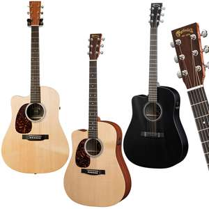 Left Handed - Martin Performing Artist Series Electro-Acoustic Guitars £599 Each With Free Next Day Delivery @ GuitarGuitar