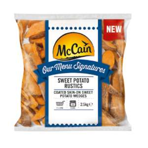 McCain sweet potato Rustics wedges 2.5kg bag, part cooked £2.50 Heron Foods