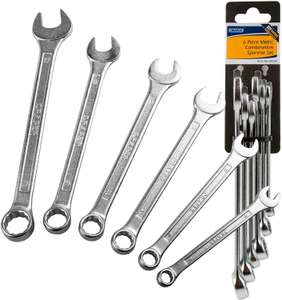 Hilka Tools 11pc Combination Spanner in rack Metric 6-19mm Home DIY Quality