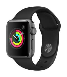 Apple Watch Series 3 (GPS, 38mm) - Space Grey Aluminum Case with Black Sport Band - £195 @ Amazon