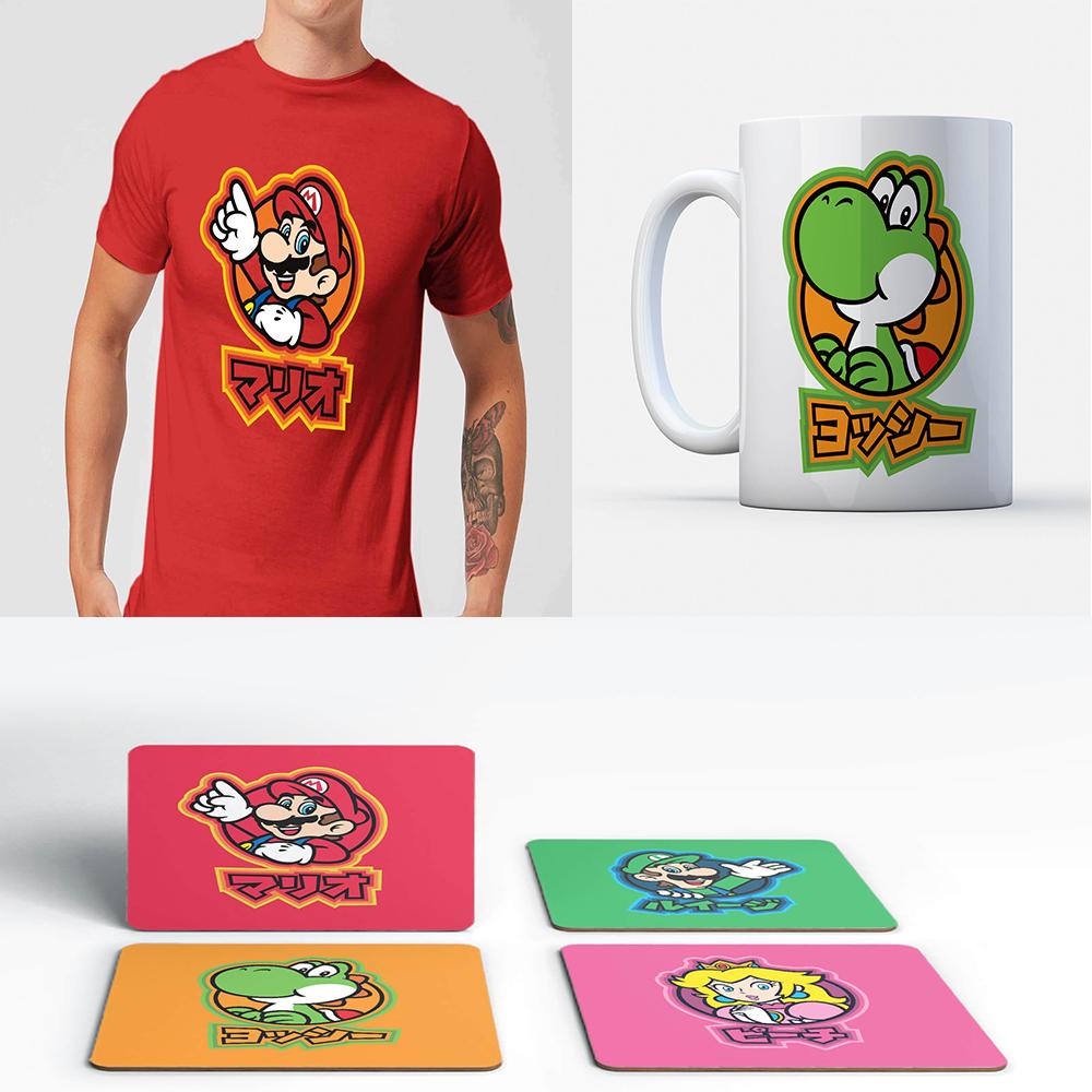 Nintendo t-shirt, mug and coaster set for just £12.99! @ IWOOT
