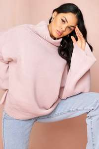 Extra 30% off Coats and Jumpers in the up to 80% Sale with Code + £1 S/delivery, Turtle neck oversized jumper £8.40/ £9.40 @ Miss Pap