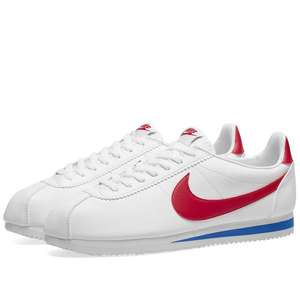 Mens Nike Cortez Classic Leather, White & Varsity Red (Forrest Gumps) £39 + £2.95 postage from End Clothing