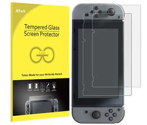 JETech Screen Protector for Nintendo Switch 2017 Tempered Glass Film, 2 pk £3.98 prime / £8.47 non prime Accessory_JETech_Authorized and fba