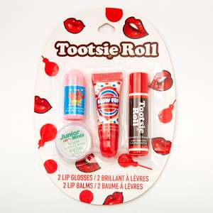 50% off with code Tootsie Roll Candy Lip Balm & Gloss - 4 Pack £5 with Free click and collect From Claire's
