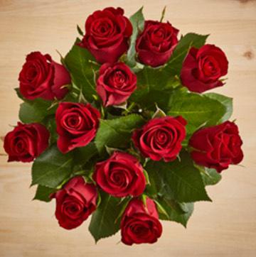 Jacks Dozen Red Roses Bouquet £5