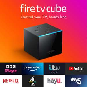 All-new Fire TV Cube | Hands free with Alexa, 4K Ultra HD streaming media player £89.99 @ Amazon
