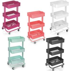 Three Tier Storage Trolley £20 Each using 20% Off Code - Various Colours @ Hobbycraft