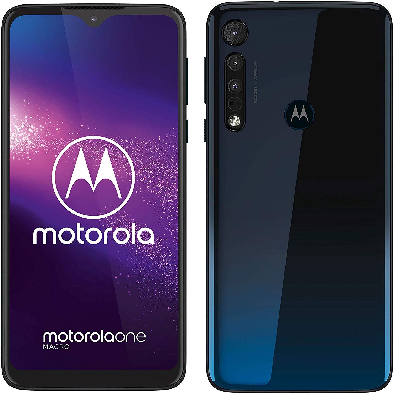 "Moto One Macro 6.2"" 4gb/64gb, triple camera, 4000mAh battery, splash resistant, microSD slot, at PAYG EE for £99. 99 +£10 topup"