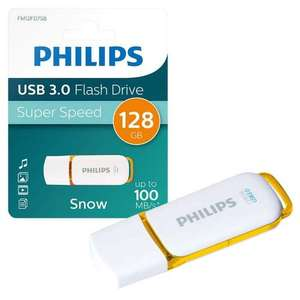 128GB Philips Snow Series USB 3.0 Flash Drive Memory Stick - Read up to 100MB/s & Writes up to 55MB/s - for £12.99 Delivered @ 7Dayshop