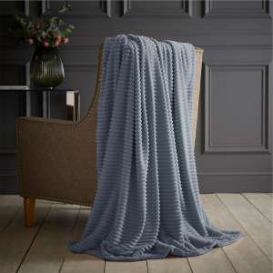 Robert Dyas - Silentnight Fleece Jumbo Cord Throw 200x150 - Duck Egg/Smoke/Blush/Denim - £7 - Free Click & Collect