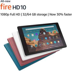 "Amazon Fire HD 10 Tablet | 10.1"" 1080p Full HD display, 32 GB (with specal offers) £109.99 @ Amazon"