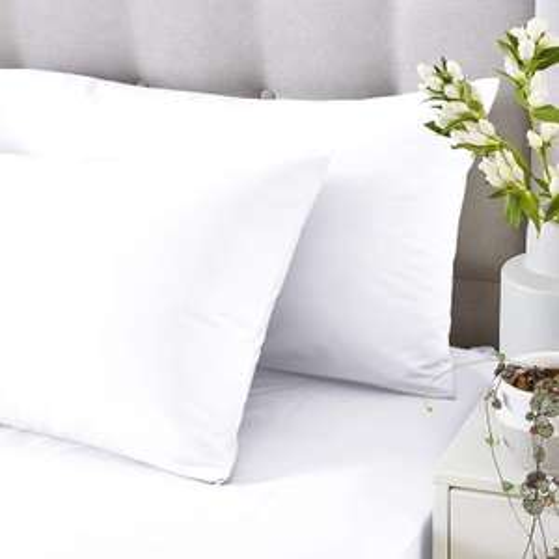 Silent Night Standard pillow case pair - cotton rich, white £1.75 @ Tesco (Royston)