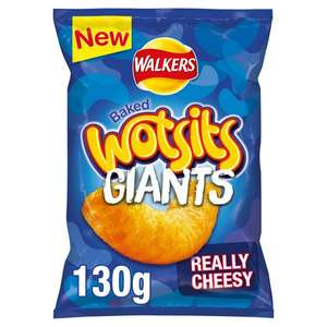 Walkers Wotsits Giants 130g - New and only a £1 in Sainsbury's with Flamin' Hot Flavour too!