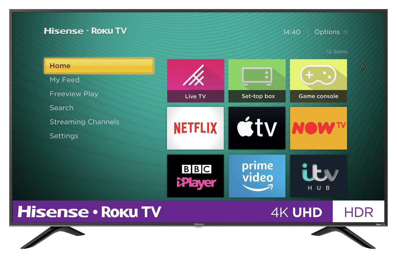 "Hisense Roku R43B7120UK 43"" - £249 / R50B7120UK 50"" - £299 / R55B7120UK 55"" - £349 / R65B7120UK 65"" - £499 4K Ultra HDR Smart TVs @ Argos"