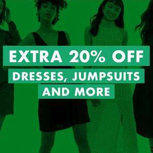 ASOS Extra 20% off Dresses, Jumpsuits & dresses with up to 70% off Dresses from £4.80 @ ASOS ends 8am Fri
