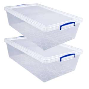2 Pack Really Useful Clear Under Bed Storage Boxes + Pencil £10 Click & Collect / 2x Twin Pack of Boxes £20 Delivered With Code @ Hobbycraft