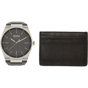 Hugo Boss Magnitude men's watch with silicone strap and leather wallet set for £79.99 Click & collect @ TK Maxx