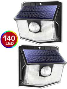 140 LED Solar Lights Outdoor, Mpow Motion Sensor Security Light with 3 Lighting Modes (2pack) £19.99 @ Sold by Litjoy and FBA